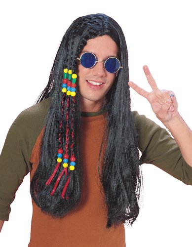 Rubie's Costume Long Hippie Wig, Brown, One Size - 60s Singer Adult Costumes