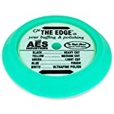 AES Industries 51745 The Edge 9.25'' Light Cut Cleaning / Glazing Pad - Green (Hook and Loop) Made in USA
