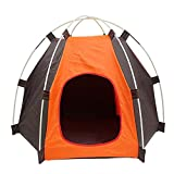 Dreamyth Portable Folding Pet Tent Dogs Cats Bed House Play Fun Indoor Outdoor Waterproof (Orange)