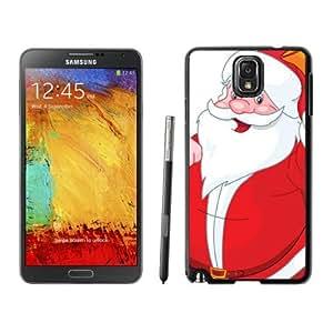Note 3 Case,Smiled White Mustache Santa Claus TPU Black Samsung Galaxy Note 3 Cover Case,Note 3 Cover Case
