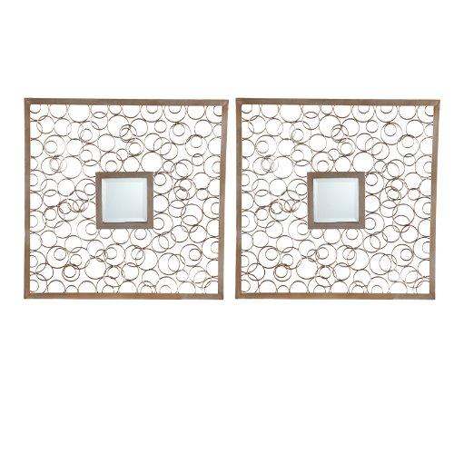 Nimbus Decorative Metal Mirror Set - 20W x 20H in. each - Set of 2