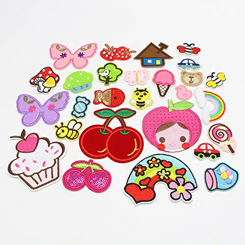 24Pcs Lot Mixed 1 6 8 6Cm Iron On Embroidered Patches Appliques