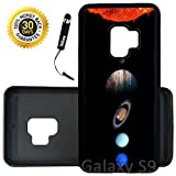 Custom Galaxy S9 Case (Solar System Planets) Edge-to-Edge Rubber Black Cover Ultra Slim | Lightweight | Includes Stylus Pen by Innosub