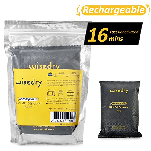 500 Gram[1Lb] Rechargeable Silica Gel Desiccant Packets With Microwave Fast Reactivated in 16mins Drying bags for Household and Commercial Safe