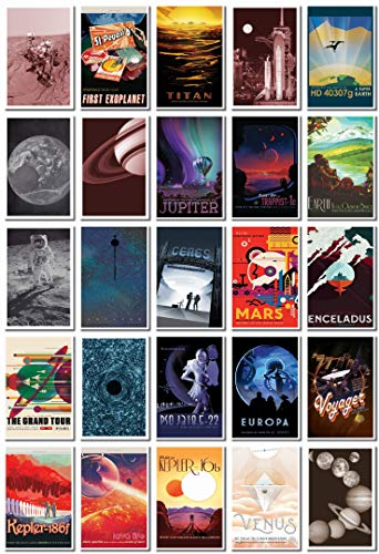 Space Theme Postcard Bulk Pack Of 25 - NASA - JPL Space Tourism - Astronomy - Planets - Fantasy - Solar System