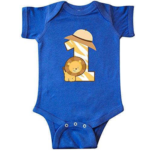 inktastic - Safari 1st Birthday Jungle Infant Creeper 12 Months Royal Blue 1b52d