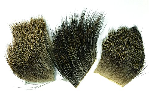 Creative Angler Elk, Moose, and Deer Hair Pieces Variety Pack for Fly Tying or Tying Flies (Hair Deer Fly Tying)