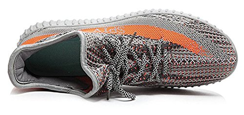 Mannen Vrouwen Non Slip Running Ademende Sneakers Unisex Ongedwongen Workout Fitnessruimte Tennis Schoenen Grijs / Oranje