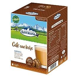 Central Lechera Asturiana Cápsulas de Café con Leche – Compatibles con Dolce Gusto – 4 Paquetes de 16 Cápsulas – Total…