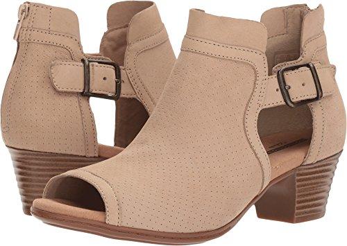 CLARKS Women's Valarie Kimble Heeled Sandal Sand Nubuck 7 Medium US