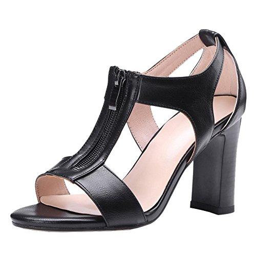 Mujer T Zapatos Correa Sandalias Black En Coolcept dqxa4RWF4