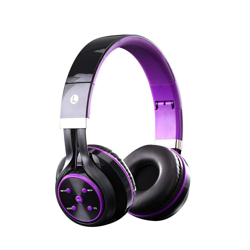 sholdnut Wireless Bluetooth 4.2 Over-The-Ear Foldable Headphones Mic,General Stereo Head Wear Lightweight Headset Earphones Compatible Phones/Tablet/iPad/TV