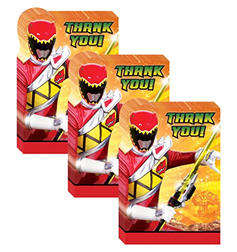 Power Rangers Dino Charge Party Thank-You Notes - 24 Pieces by Pinatas