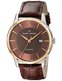 Claude Bernard Men's 80091 357R BRIR Classic Automatic Analog Display Swiss Automatic Brown Watch