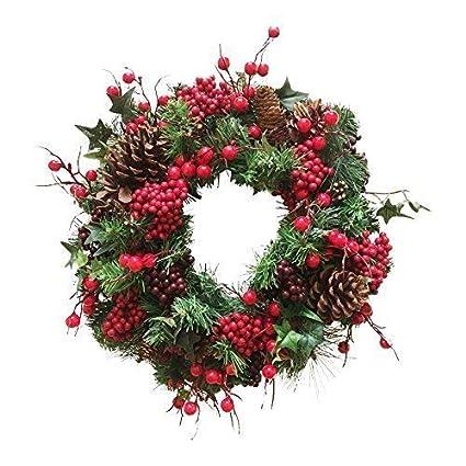 Woodland Red Winter Berry Luxury Christmas Wreath 40 Cm 16