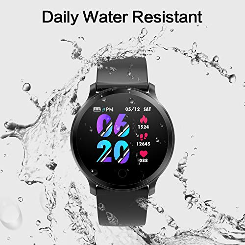 BingoFit Fitness Tracker, Smart Watch IP68 Waterproof Activity Tracker with Heart Rate Monitor, Sleep Monitors, Calorie, Pedometer, Blood Pressure Bluetooth Sport Smartwatch for Men Women Kids Gifts