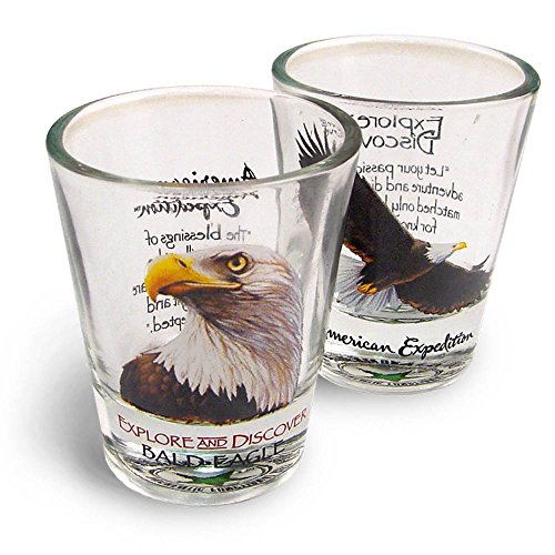 American Expedition Set of 2 Shot Glasses (Bald Eagle)