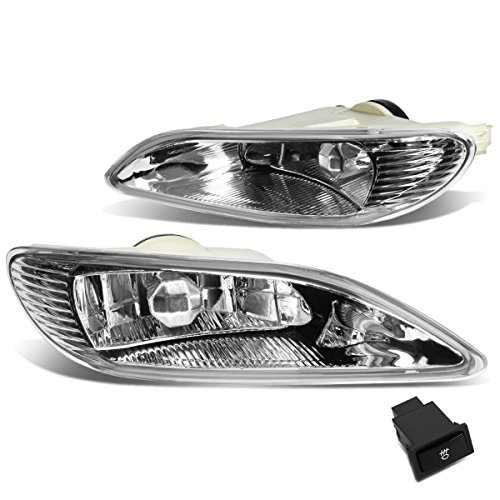 139 Projector Lamp - DNA MOTORING Clear FL-ZTL-139-CH Fog Light w/Switch [for 02-08 Camry/Solara/Corolla]