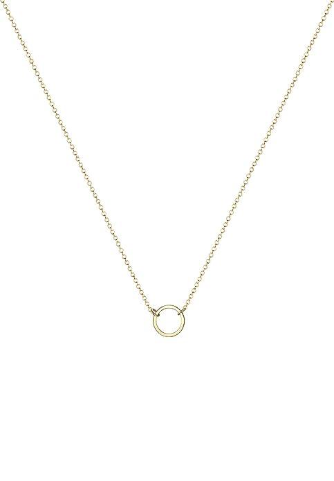 Elli Women's 925 Sterling Silver Xilion Cut Necklace of Length 38 cm jyZrhsmNnI