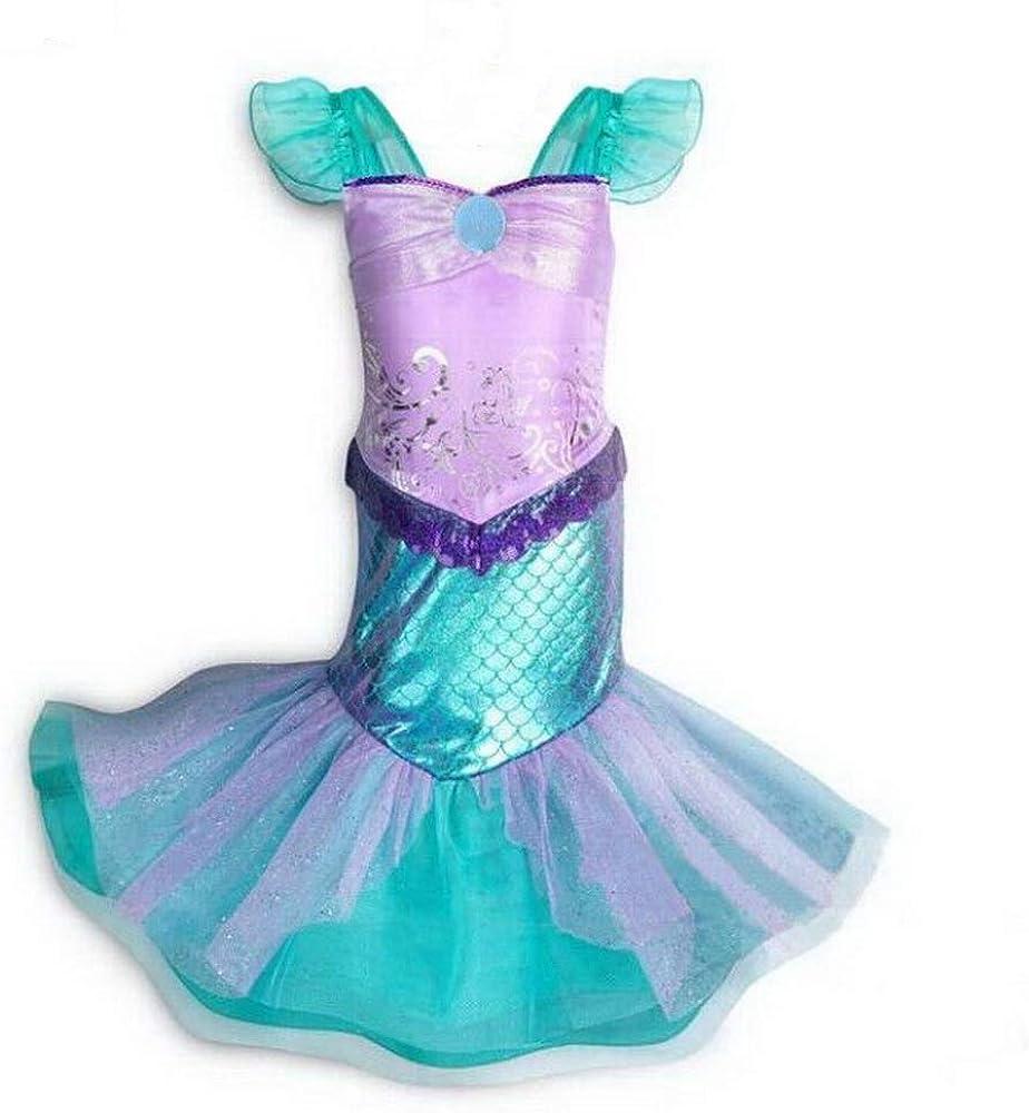 Amazon.com: Disfraz de sirena para niña, disfraz de princesa ...