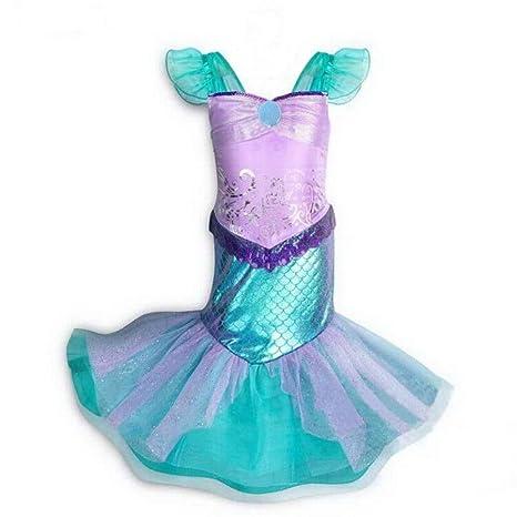 Amazon.com: Disfraz de sirena para niñas pequeñas, disfraz ...