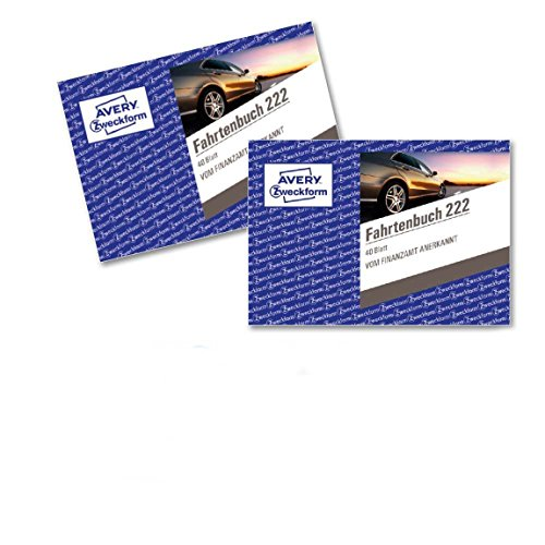Avery Zweckform 222 Car Ride Book (A6 Landscape Format 40 Sheets – White 2 Items by Avery Dennison