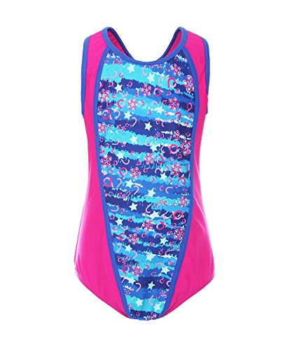 ReliBeauty Big Girls Floral One Piece Bathing Suit