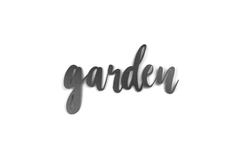 Garden Standard Size Raw Steel Unpainted Word Art