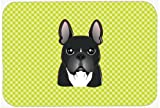 Caroline's Treasures Checkerboard Lime Green French Bulldog Mouse Pad/Hot Pad/Trivet (BB1289MP)