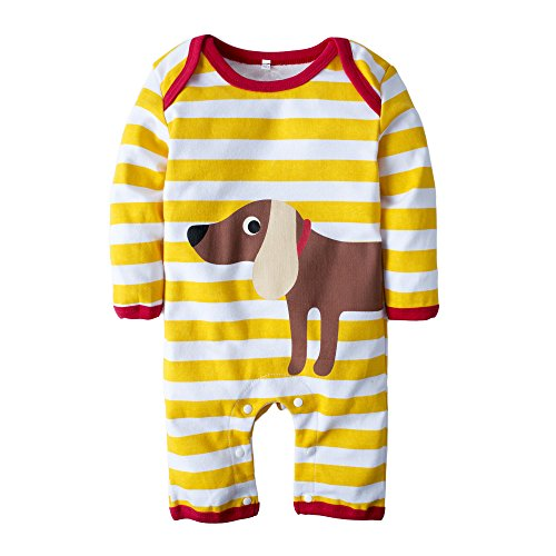 Big Elephant Baby Boys' One Piece Doggie Long Sleeve Romper Clothes H49 (Doggy Clothes)
