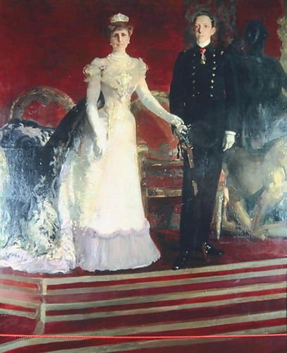 Joaquin Sorolla y Bastida Portrait of King Alfonso XIII of Spain, and his mot... by 1st Art Gallery