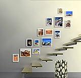 ZYANZ Irregular Wood Combination Photo Frame, Rectangle (14 Packs), Estimated Area Of 165 × 150cm