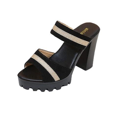 bc9be3e99a3a7 Amazon.com : YJYdadaS Slippers, Women's High Heel Shoes Dress Heeled ...
