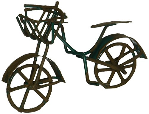 G & F 10022GR Fairy Garden Miniature Green Mini Bicycle Outdoor Statue