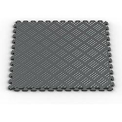 Norsk NSMPRD6MG Raised Diamond Multi-Purpose PVC Flooring, Metallic Graphite, 6-Pack