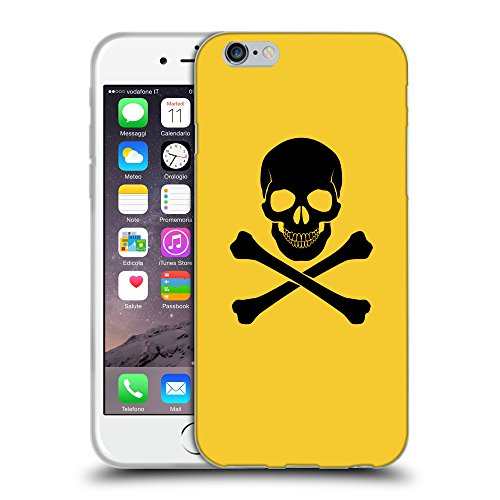 GoGoMobile Coque de Protection TPU Silicone Case pour // Q08040611 Os croisés 1 Banane Jaune // Apple iPhone 7
