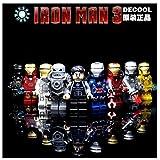 2015 New 9pcs/set Iron Man 3 Super Heroes Minifigures Building Bricks Blocks Education Toys Compatible With lego (WITHOUT original boxes)