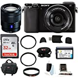 Sony Alpha A6000 Mirrorless Digital Camera with 16-50mm Lens (Black) + Sony SEL1670Z E-mount Vario-Tessar 16-70mm F4 ZA OSS + 32GB SD Card + Battery for Sony NPFW50 + Deluxe Accessory Kit