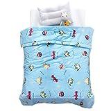 LIFEREVO Cotton Baby Toddler Blanket Spring Summer Quilt Fancy Cartoon Print Lightweight 43''x60'' Car