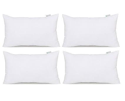 Amazon Com Acanva Hypoallergenic Pillow Insert Form Cushion 16 X