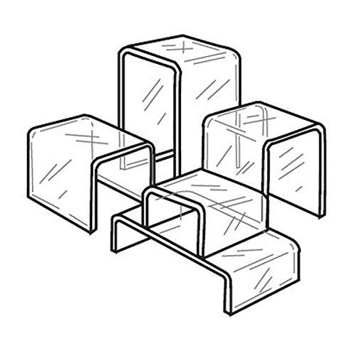 Acrylic Riser - 12''w x 6''d x 3''h - Clear 1/4'' Acrylic