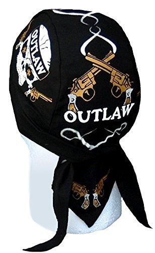 Skull Cap Biker Caps Headwraps Doo Rags - - Biker Outlaw