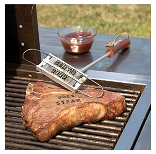 Barbecue Branding Iron,Rambling Creative BBQ Accessories Personalized Tool with Changeable Letters, Brand Your Steak,Chicken,Your Name Message or Just About Anything