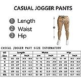PIDOGYM Men's Slim Striped Jogger Pants,Tapered