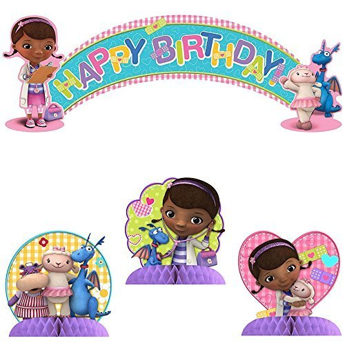 Doc McStuffins Party Kit Including Centerpiece and Banner ()