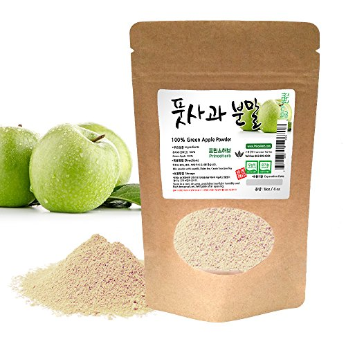 [Medicinal Korean Herbal Powder] 100% Natural Weight Loss Green Apple Powder (Qing Pingguo/풋사과 가루) (4 oz)