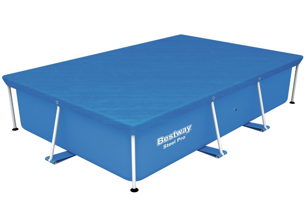 Bestway Pool Cover 2.59m x 1.70m - pool accessories (Cover, Blue, Polyethylene, Full color box) 58105