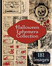 Halloween Ephemera Collection: 181 Vintage Apothecary Labels, Chemist Labels and Illustrations
