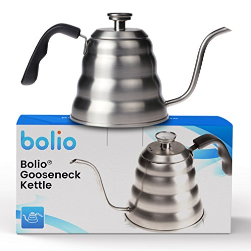 Pour Over Coffee Urn (Bolio - Premium Pour Over Coffee Kettle - Discover how much better coffee tastes when you make it by hand using the right tools.)