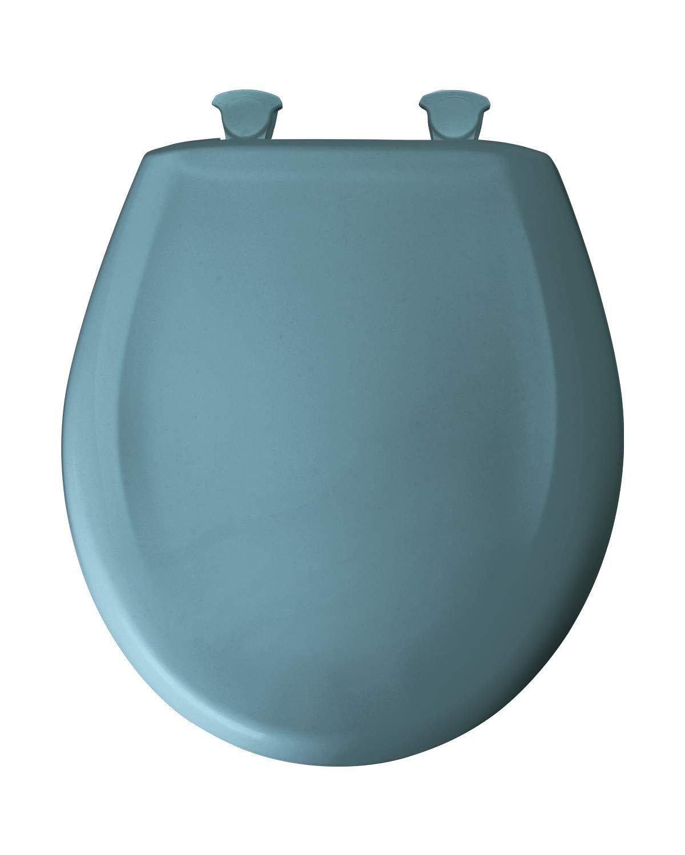 Bemis 200SLOWT 064 Lift-Off Plastic Round Slow-Close Toilet Seat Regency Blue